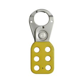Vinyl Molded coated Hasp - Small - Jaw dia -25 mm - YELLOW