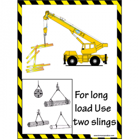 5pcs KRM LOTO - FOR LONG USE TWO SLING SAFETY POSTER (ACP SHEET) 4ft X 3ft