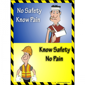 5pcs KRM LOTO - KNOW SAFETY NO PAIN (ACP SHEET) 4ft X 3ft