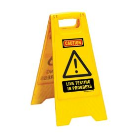 KRM LOTO PORTABLE SAFETY FLOOR STAND(LIVE TESTING)