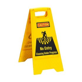 KRM LOTO PORTABLE SAFETY FLOOR STAND (NO ENTRY)