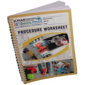 Lockout Tagout Procedure Worksheet in Spiral / Register (Set of 2)