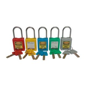20PCS OSHA SAFETY THIN SHACKLE PADLOCK 4.7MM 304 GRADE MASTER KEY