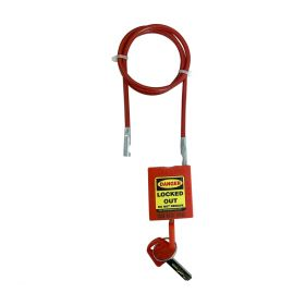 CABLE SAFETY PADLOCK INSULATED STEEL SHACKLE 600MM LENGTH