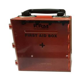 KRM FIRST AID KIT BOX (ABS + POLYCARBONATE) - RED