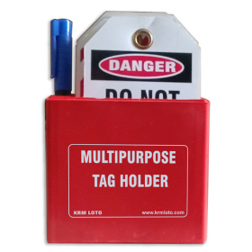 KRM LOTO MULTIPURPOSE TAG HOLDER Red (With Material)