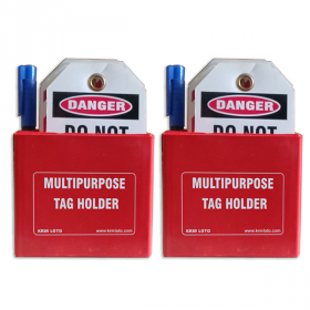 KRM LOTO MULTIPURPOSE TAG HOLDER Red -2pcs (With Material)