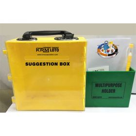 KRM LOTO – MULTIPURPOSE (ABS + POLYCARBONATE) SUGGESTION BOX WITH ABS POCKET - YELLOW