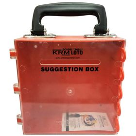 KRM LOTO – MULTIPURPOSE (ABS +POLYCARBONATE) SUGGESTION BOX - RED