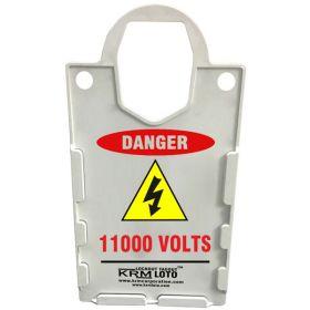 KRM LOTO – LARGE DISPLAY  TAG HOLDER - DANGER 11000 VOLTS