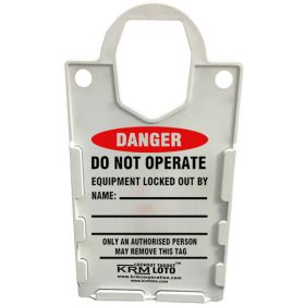 10pcs KRM LOTO – LARGE DISPLAY TAG HOLDER - DO NOT OPERATE