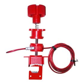 Universal Valve Lockout Device with Steel Insulated Cable
