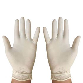 KRM -100pcs  Hand Gloves Latex Examination Gloves