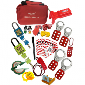 KRM LOTO – OSHA LOCKOUT TAGOUT ELECTRO. MECH. RED BAG KIT -2125