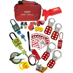 KRM LOTO – OSHA LOCKOUT TAGOUT ELECTRO. MECH. RED BAG KIT -2125