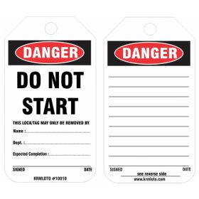 25pcs -  KRM LOTO DANGER - DO NOT START TAG