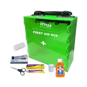 KRM FIRST AID KIT BOX (ABS + POLYCARBONATE) - WITH CONTENT