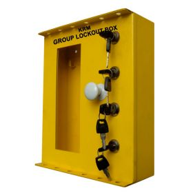 Group lockout box with in built 4 locks & 12 slots