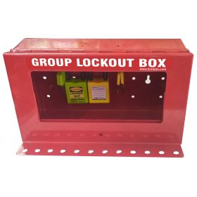 KRM LOTO – PORTABLE/WALL MOUNTED UNIQUE GROUP LOCKOUT BOX (12HOLES) WITHOUT PADLOCK
