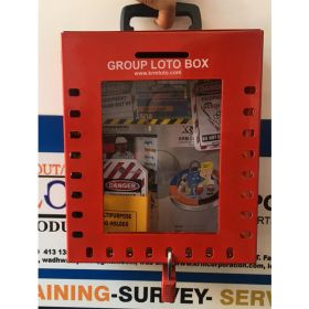 KRM LOTO –24H1P PORTABLE/ wall mounted  GROUP LOTO  BOX ( without material )