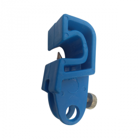 CIRCUIT BREAKER LOCKOUT WITH SPECIAL FOLDABLE SCREW - BLUE