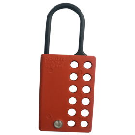 10PCS KRM LOTO DI ELECTRIC LOCKOUT HASP WITH 12 HOLES-RED