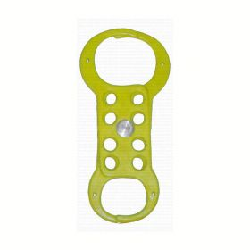 Hasp with double jaw with 8 holes -Yellow