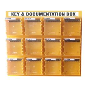 KRM LOTO  – 12 Boxes Di-Electric Multipurpose (ABS + Polycarbonate) LOTO Box for Group Key Documentation