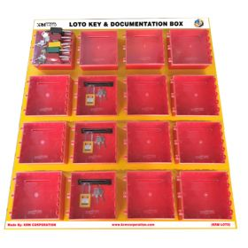 KRM LOTO  – 16 Boxes Di-Electric Multipurpose (ABS + Polycarbonate) LOTO Box for Group Key Documentation