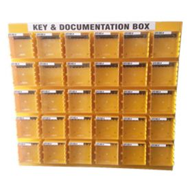 KRM LOTO  – 30 Boxes Di-Electric Multipurpose (ABS + Polycarbonate) LOTO Box for Group Key Documentation with