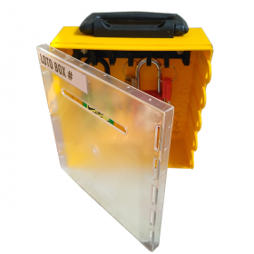 KRM LOTO – DI-ELECTRIC MULTIPURPOSE (ABS + POLYCARBONATE) LOTO BOX FOR GROUP LOCKOUT/KEY DOCUMENTATION