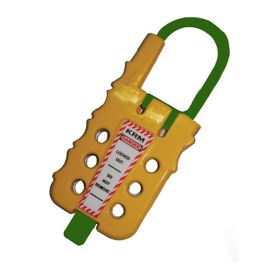 De Electric ABS Multipurpose Cable Lockout Device Yellow/Green (with option of cable as require)