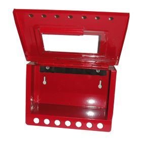 KRM LOTO – PORTABLE/WALL MOUNTED UNIQUE GROUP LOCKOUT BOX (7HOLES)