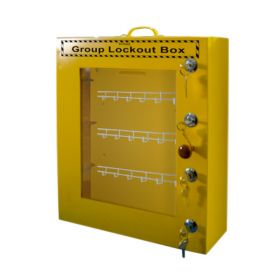 Group Lockout Box with 4 Locks
