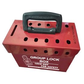 Portable Group Lockout Box (10 Holes)
