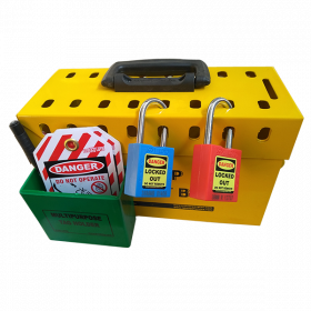 Portable Group Lockout Box With Pocket (Without Material)