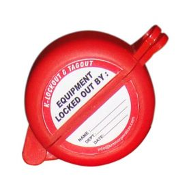 "KRM LOTO Gate Valve Lockout with one hole - 25 to 63.5 mm ( 1"" - 2½"" inch)"