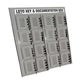KRM LOTO – 4 LOCK WITH 16 GROUP LOCKOUT BOX CABINET
