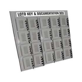 KRM LOTO – 4 LOCK WITH 20 GROUP LOCKOUT BOX CABINET