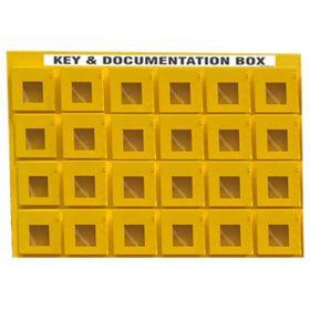 KRM LOTO - 24 BOX WITH 1 LOCKING HOOKS LOCKOUT KEY & DOCUMENTATION BOX