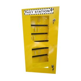 KRM LOTO – LOCKABLE LOCKOUT TAGOUT KEY STATION CLEAR FASCIA 30152 WITHOUT MATERIAL