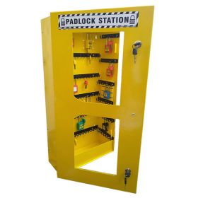 KRM LOTO – LOCKABLE LOCKOUT TAGOUT PADLOCK STATION-CLEAR FASCIA -30159(WITHOUT MATERIAL)