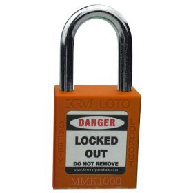 OSHA Safety Isolation Lockout Padlock - Metal Shackle with Differ Key