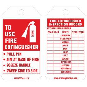25pcs KRM LOTO - FIRE EXTINGUISHER  TAG
