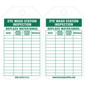 25pcs KRM LOTO - EYE WASH STATION INSPECTION TAG