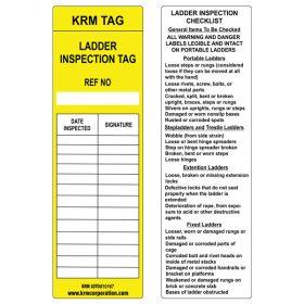 25pcs - KRM LOTO - LADDER INSPECTION TAG