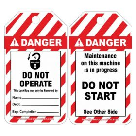 25pcs KRM LOT DANGER - MAINTENANCE ON THIS MACHINE IS IN PROGRESS