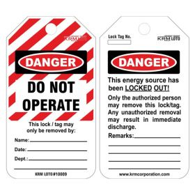 25pcs - DANGER - DO NOT OPERATE