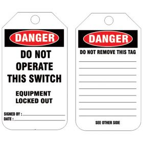 25pcs KRM LOTO - DO NOT OPERATE THIS SWITCH TAG