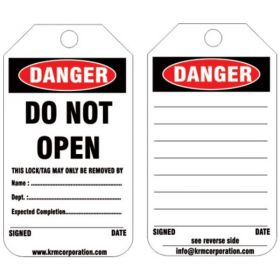 25pcs - KRM LOTO DANGER - DO NOT OPEN